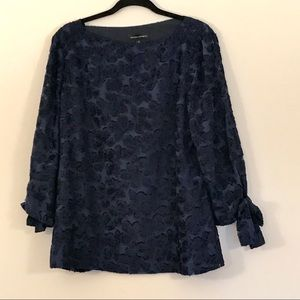Banana Republic NWT floral tie sleeve blouse